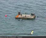 Pour la première fois, l'aventure de la Tyrolienne avec une barge