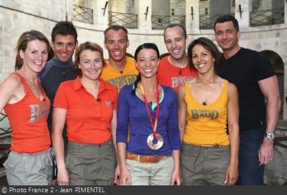 Fort Boyard 2006 - Équipe 1 - Médaillés des JO de Turin (24/06/2006)