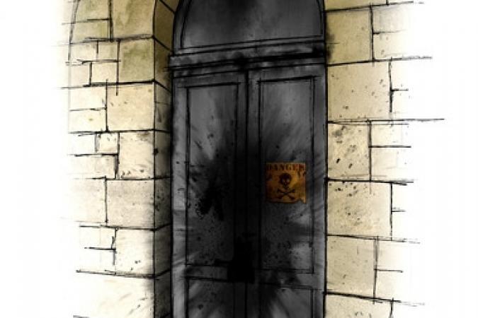 Fort Boyard 2011 - Dessin de la porte du Baril de poudre