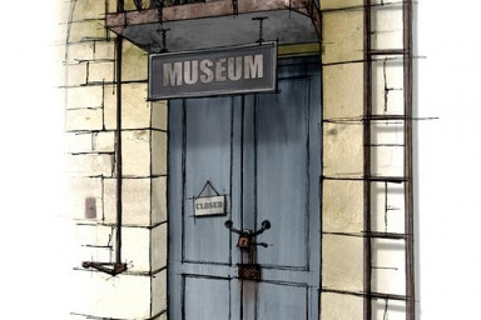 Fort Boyard 2011 - Dessin de la porte du Museum