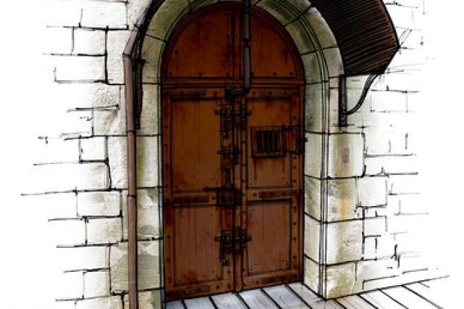 Fort Boyard 2011 - Dessin de la porte de la Menotte