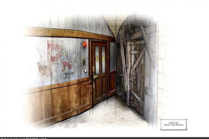 Fort Boyard 2012 - Dessin de la porte de la Cabine abandonnée