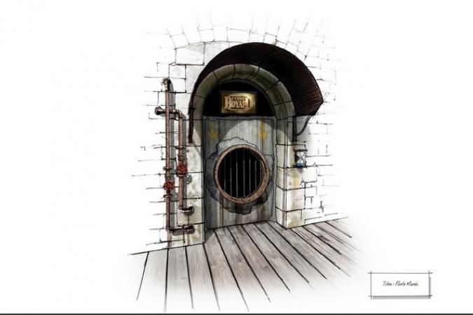 Fort Boyard 2014 - Dessin de la porte du Tri sélectif
