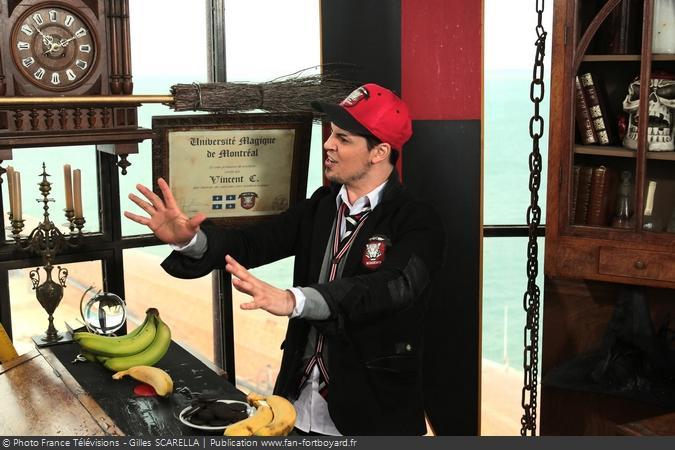 Fort Boyard 2014 - Le magicien Vincent C. dans la vigie