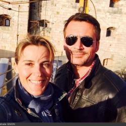Fort Boyard 2014 : Nathalie SIMON et Olivier MINNE (29/05/2014 - N. Simon)