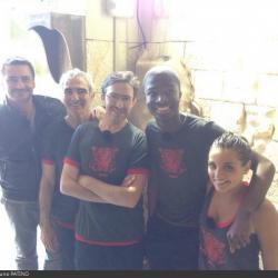 Fort Boyard 2014 : Une partie de l'équipe 7 (30/05/2014 - B. Patino)