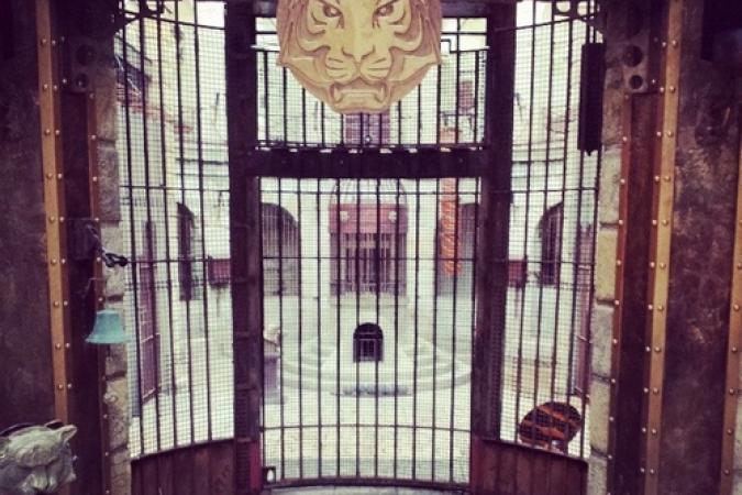 Fort Boyard 2014 : La nouvelle porte de la Salle du Trésor (03/06/2014 - A. Leveaux)