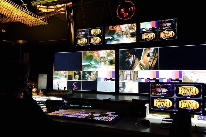 Fort Boyard 2014 : Premières simulations des nouvelles épreuves vues de la régie HD. (21/05/2014 - O. Minne)