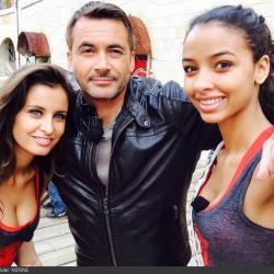 Fort Boyard 2014 : Flora COQUEREL, Malika MENARD et Olivier MINNE (28/06/2014)
