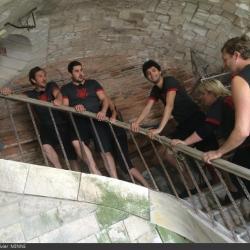 Fort Boyard 2014 : Valérie DAMIDOT, Philippe AURIEL, Amaury LEVEAUX, Alexandra ROSENFELD, Tony SAINT-LAURENT, Artus (16/08/2014)