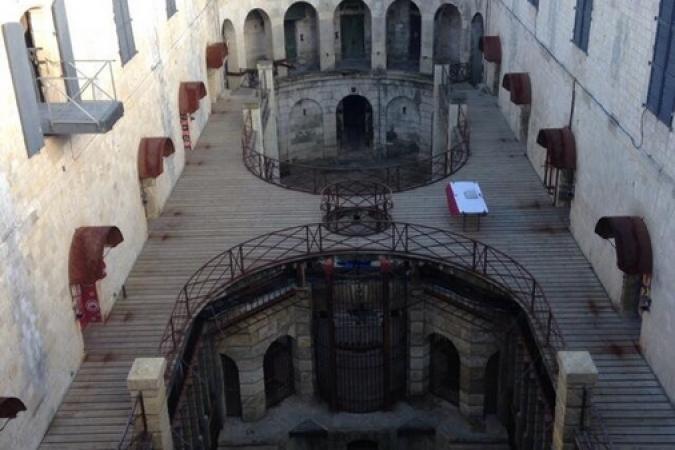 Fort Boyard 2014 : Vue de la cour (24/05/2014 - E. Geffray)