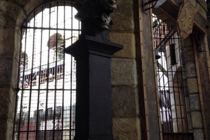 Fort Boyard 2014 : Nouvelle porte de la Salle du Trésor (24/05/2014 - E. Geffray)
