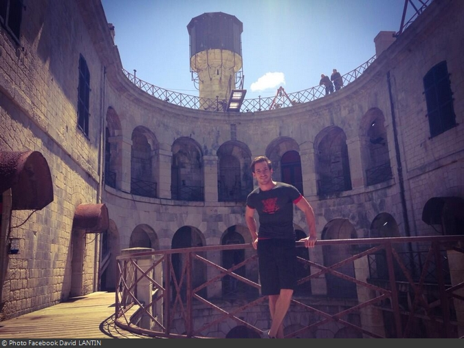 Fort Boyard 2014 : David LANTIN dans le fort (28/05/2014 - D. Lantin)