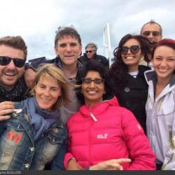 Fort Boyard 2014 : L'équipe 6 des animateurs (29/05/2014 - B. Guillon)