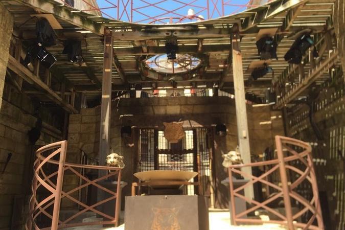 Fort Boyard 2015 : Vue de la cour intérieure (22/05/2015)