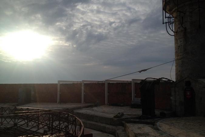 Fort Boyard 2015 : Lever de soleil depuis la terrasse du fort (25/05/2015)