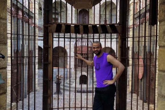 Fort Boyard 2015 : Tony PARKER devant la Salle du Trésor (25/05/2015)