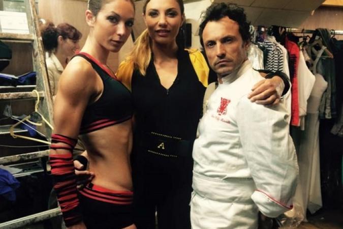 Fort Boyard 2015 : Lady Boo, Ariane BRODIER et Willy ROVELLI (26/05/2015)