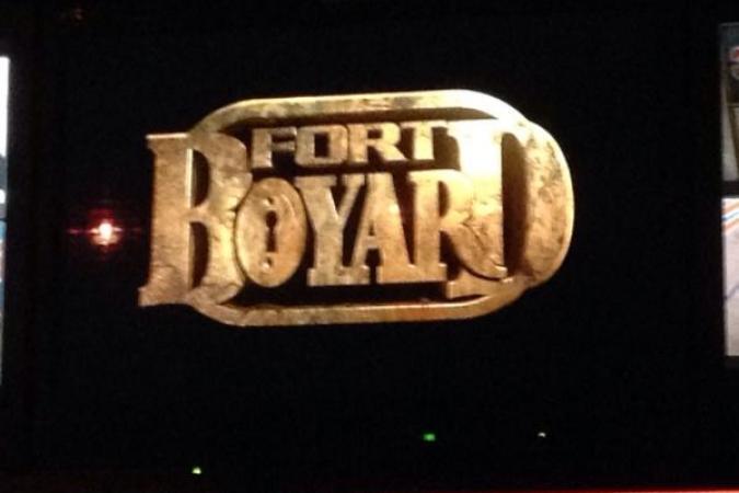 Fort Boyard 2015 : Aperçu du logo depuis un écran de la régie (18/05/2015)