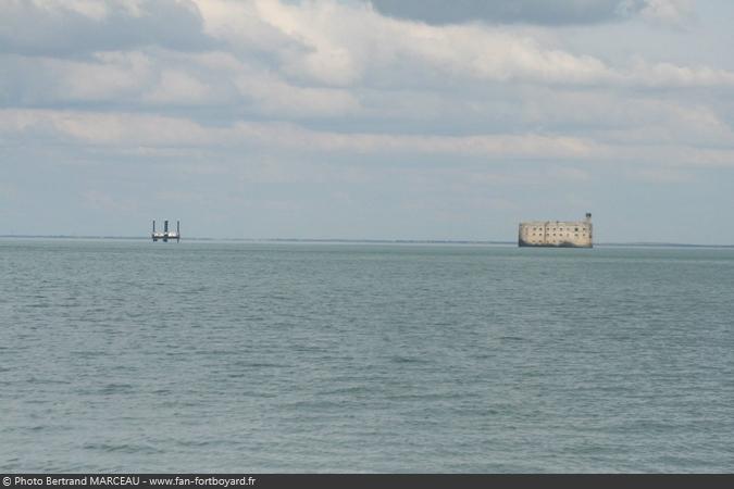 Fort Boyard 2015 - Changement de la plate-forme : Le Fort sans plate-forme (18/03/2015)