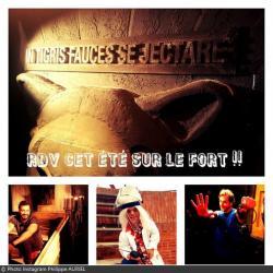 Fort Boyard 2016 - Vue des tournages de l'équipe 1 (02/06/2016)