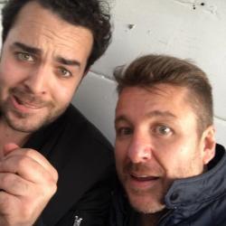 Fort Boyard 2016 - Bruno Guillon et Elliot après le tournage (06/06/2016)