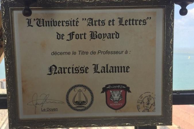 Fort Boyard 2016 - Le diplome de Narcisse Lalanne (09/06/2016)
