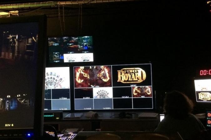 Fort Boyard 2016 - La régie pendant les tournages