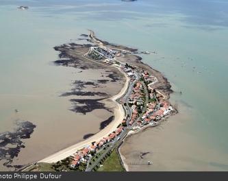 Vue aérienne de la presqu'île de Fouras