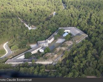 Vue aérienne du Fort des Saumonards