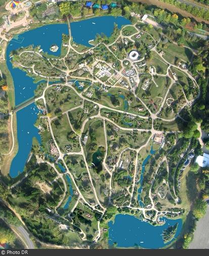 Vue aérienne du parc France Miniature