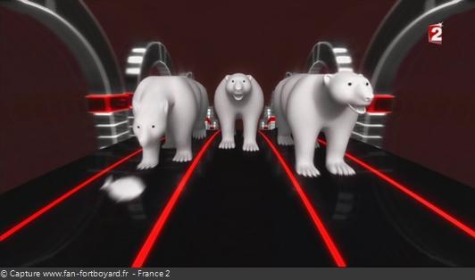 Fort Boyard - Cellule interactive (Enigmes visuelles) - Course d'ours polaire (Noël)