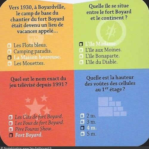 Fort Boyard Cube - Exemple de carte