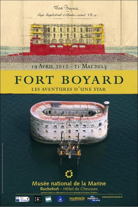 Affiche officielle de l'exposition Fort Boyard, les aventures d'une star