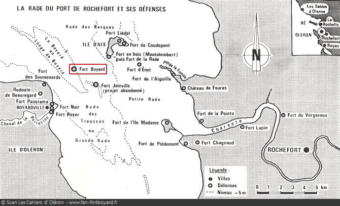 Plan de la rade de Rochefort