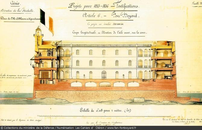 Coupe du Fort Boyard (1854) montant son aspect pour 1855-1856