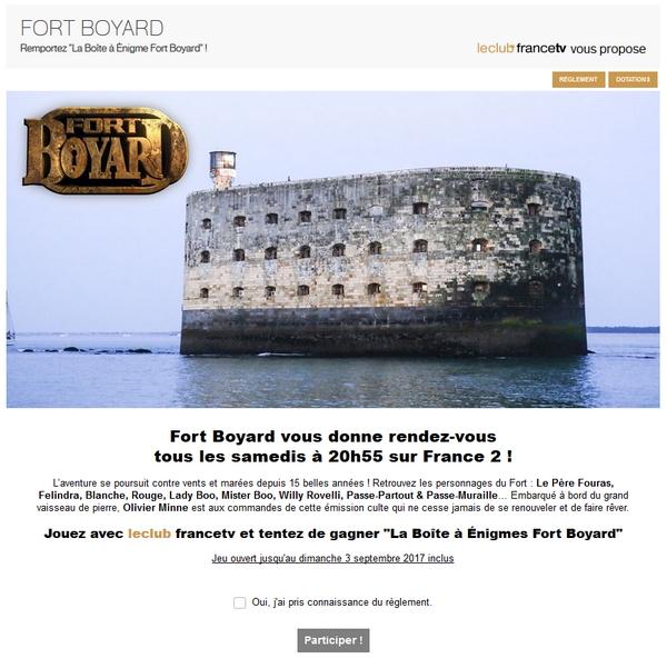 Fort Boyard 2017 - Jeu Le Club FTV