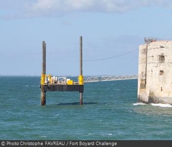 La plate-forme de Fort Boyard en position sécurité