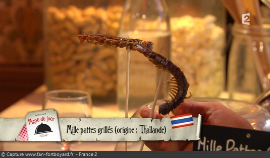 Fort Boyard - Chez Willy Rovelli - Mille pattes grillés
