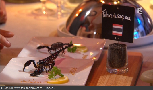 Fort Boyard - Chez Willy Rovelli - Friture de scorpions