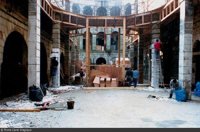 Fort boyard salle du tresor construction 1990 01