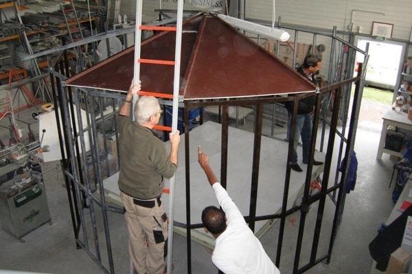 Restauration de la vigie de Fort Boyard (2011) - Conception en atelier