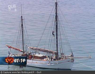 Fort Boyard - Tyrolienne version bateau (1991-1992 / 1996-1997 / 2000-2005 / Nocturnes 2012)