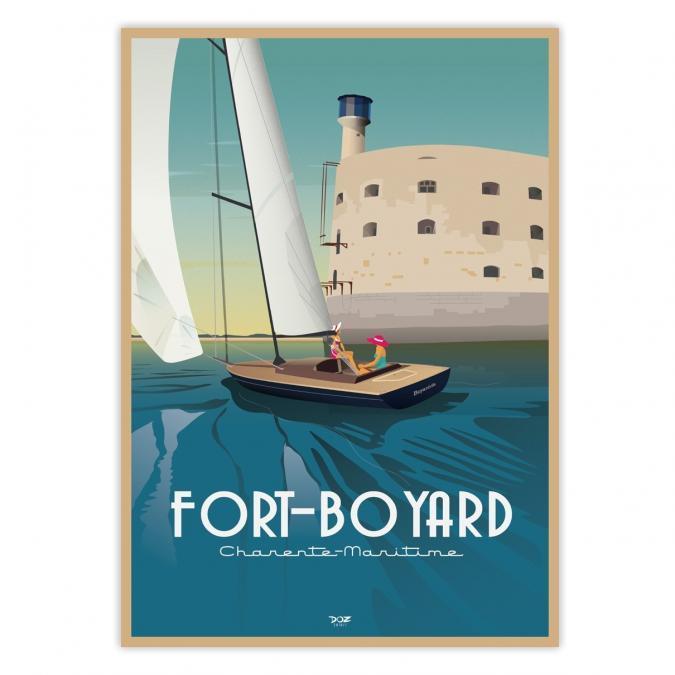 Affiche Fort Boyard vintage de DOZ