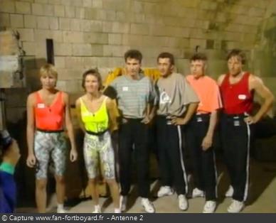 Les Clés de Fort Boyard 1990 - Équipe 5 - Brigitte Vigneron (04/08/1990)
