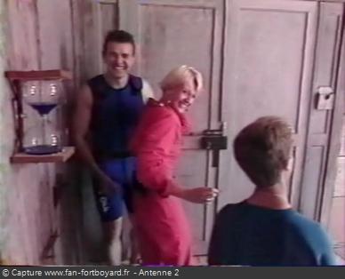 Fort Boyard 1991 - Le fou-rire nerveux de Sophie Davant durant l'émission 14