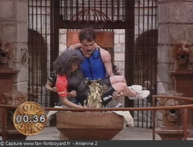 Fort Boyard 1991 : Remplissage direct de la balance