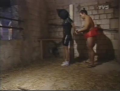 Fort Boyard 1992 : La nouvelle épreuve de la Cagoule avec Sumo