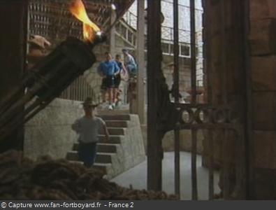 Fort Boyard 1993 : Départ de l'équipe en fin d'émission