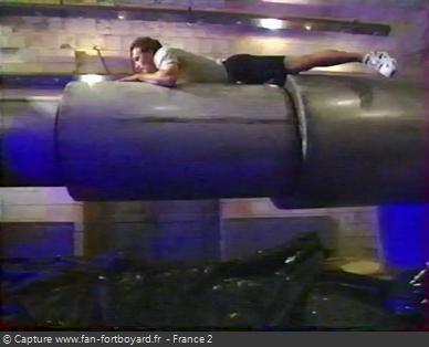 Fort Boyard 1994 - L'ambiance particulière de l'épreuve des Cylindres en 1994